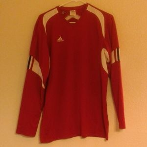 Adidas Men's Red Climacool Long Sleeve Shirt